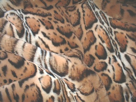Jaguar Faux Fur Fabric Per Meter