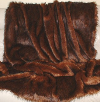 Red Fox Faux Fur Per Meter