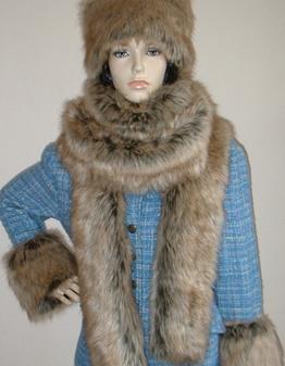 Husky Faux Fur Super Long Scarf