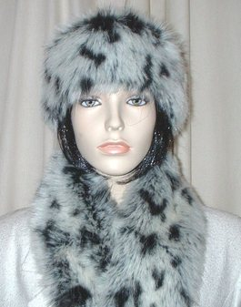 Winter Leopard Faux Fur Headband