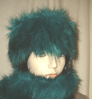 Jade Faux Fur Headband