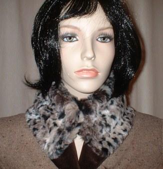 Wild Cat Faux Fur Collar