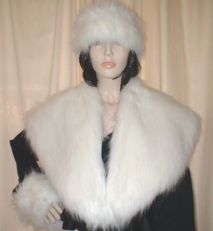 Polar Bear Faux Fur Shawl Collar