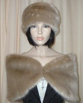 Honey Blonde Faux Fur Wrap