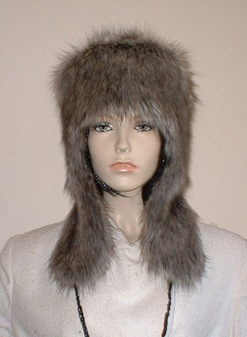 Timber Wolf Faux Fur Trapper Hat
