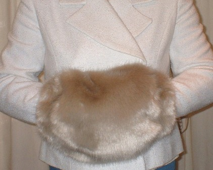 Honey Blonde Faux Fur Muff