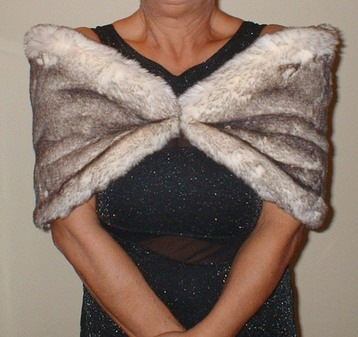 Polar Fox Faux Fur Wrap