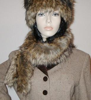 Simba Faux Fur Slim Collar/Headband
