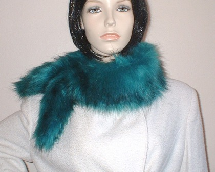 Jade Faux Fur Slim Collar/Headband