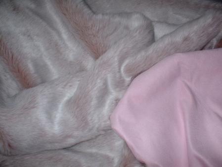 Pastel Pink Faux Suede