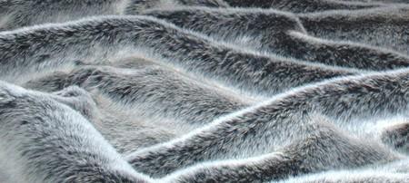 Arctic Wolf Faux Fur SECONDS Per Meter
