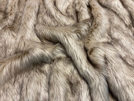 SECONDS Fawn Musquash Faux Fur Fabric Per Meter