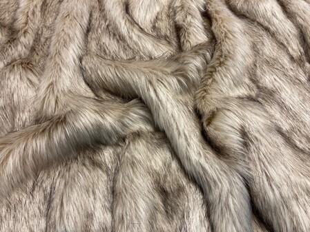 Fawn Musquash Faux Fur Fabic Per Meter