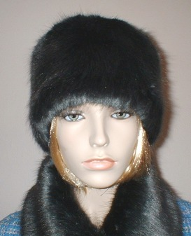 Charcoal Mink Faux Fur Hat