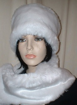 Original Snow White Faux Fur Hat Medium Size
