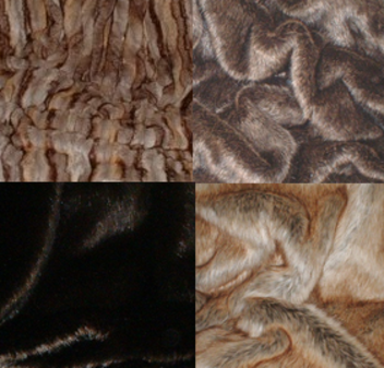 Brown Set of Faux Fur Swatches