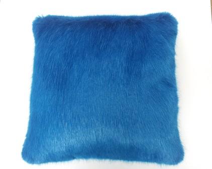 Azure Blue Faux Fur Cushions 41x41cm