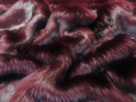 Garnet Faux Fur Fabric Per Meter