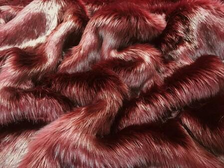 SECONDS Garnet Faux Fur Fabric Per Meter