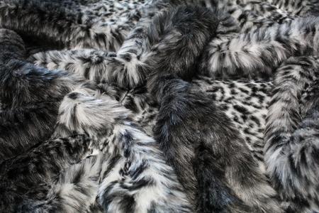 Grey Ocelot Faux Fur Swatch