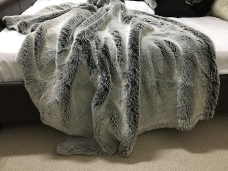 Grey Squirrel Faux Fur Throws