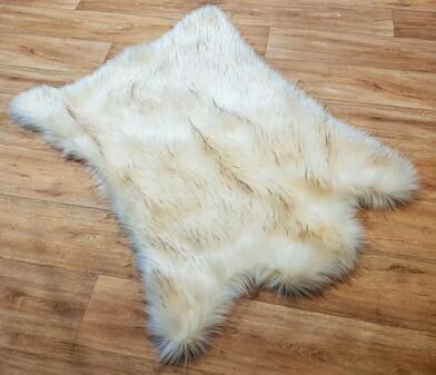 Tissavel Himalaya Faux Fur Animal Shape Rug