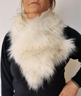 Himalaya Faux Fur Vintage Asymmetric Scarf