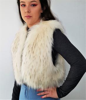Himalaya Faux Fur Bolero/Waistcoat