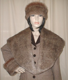 Honey Bear Faux Fur Shawl Collar