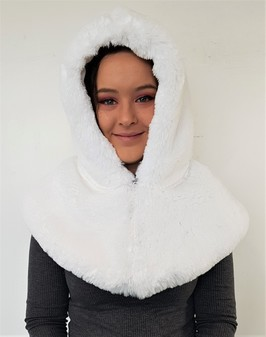 Snow White Faux Fur Zipped Hood