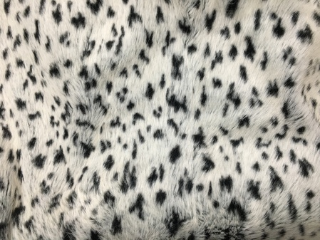 SALE Tissavel Winter Leopard Throw with Black Moleskin Faux Fur