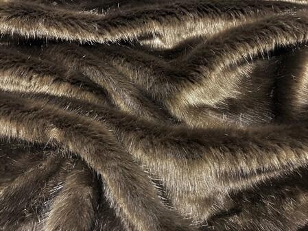 SECONDS Mahogany Mink Faux Fur Per Meter