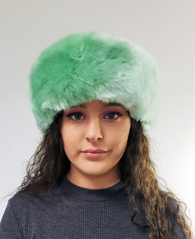 Tissavel Mint Faux Fur Headband