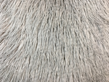 Mongolian Grey Faux Fur Swatch