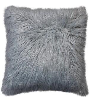 Mongolian Grey Faux Fur Cushions