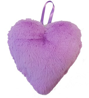 Orchid Faux Fur Hanging Heart