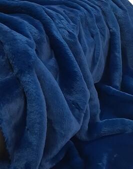 SECONDS Petrol Blue Faux Fur Fabric Per Meter