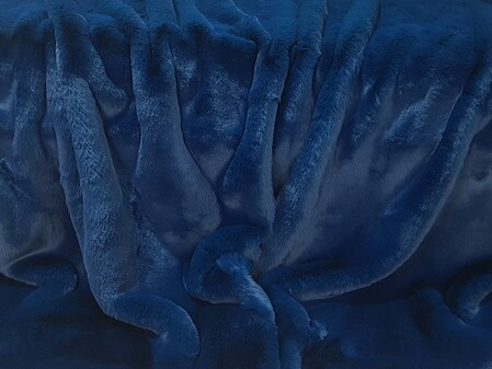 Petrol Blue Faux Fur Fabric Per Meter