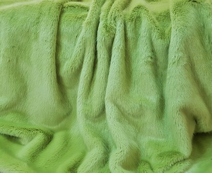 Pistachio Faux Fur Swatches