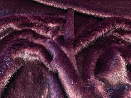 Plum Faux Fur Swatch