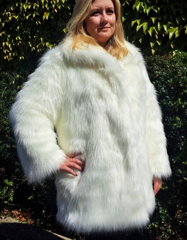 Polar Bear Faux Fur Coat