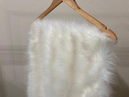 Polar Bear Faux Fur Long Stole