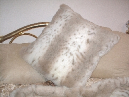 Snow Lynx Cushion 24 x 24 inches
