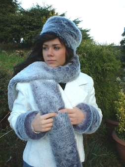 Arctic Wolf Faux Fur Scarf