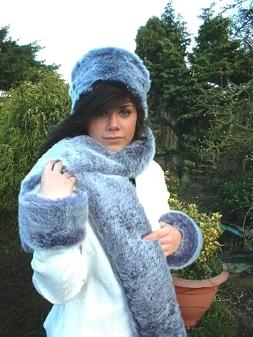 Arctic Wolf Faux Fur Cuffs