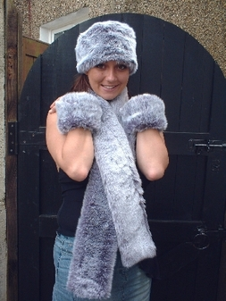 Silver Lavender Fox Faux Fur Cuffs