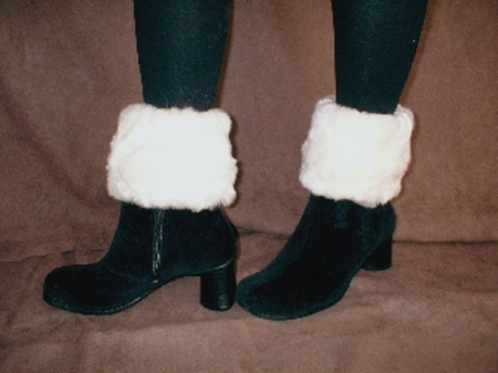 Ivory Astra Faux Fur Boot Topper