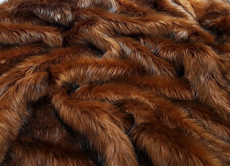 Red Fox Faux Fur Fabric Per Meter