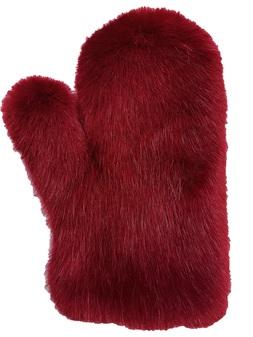 Ruby Red Faux Fur Massage Mitt