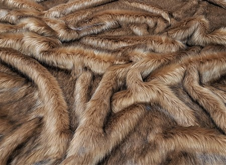 Umber Faux Fur Fabric